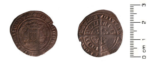 HESH-1C45F1: Medieval coin: groat of Edward III, pre-treaty series