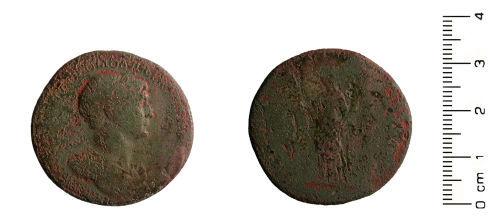 HESH-1DB0A8: Roman coin: Sesterius of Trajan