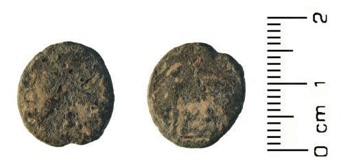 HESH-217085: Roman coin: Nummus of House of Constantine