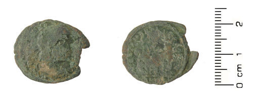 HESH-2CE531: Roman coin: Nummus of House of Constantine, probably Constantinius II