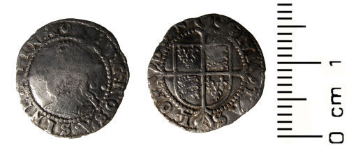 HESH-3D5F36: Post Medieval Coin: Halfgroat of Elizabeth I