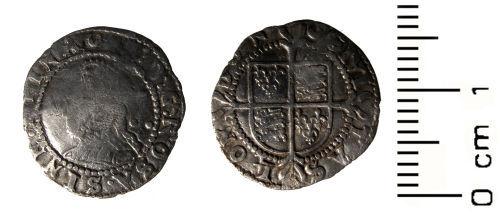 HESH-3D5F36: Post Medieval Coin: Halfgroat of Elizabeth I