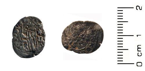 HESH-4664E6: Medieval Coin: Silver Venetian soldino ('galley halfpence') of Antonio Venier (1382-1400).