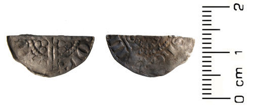 HESH-468E06: Medieval Coin: Cut half penny of Henry III