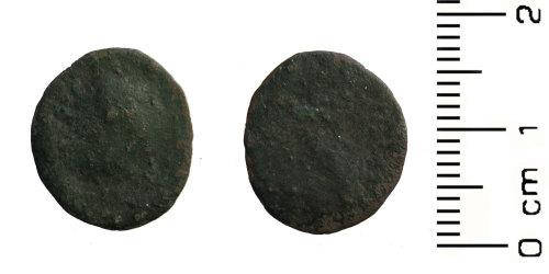 HESH-53FFC5: Roman coin: radiate
