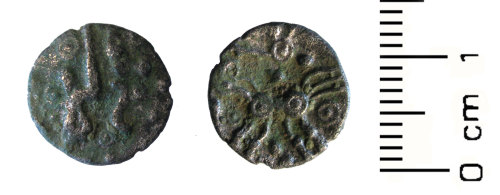 A resized image of Iron Age coin: silver Western unit
