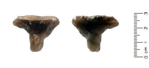 HESH-5EA303: Neolithic Debitage: Reworked flint flake / debitage probably dating from the Neolithic period (3500 – 2100 BC)