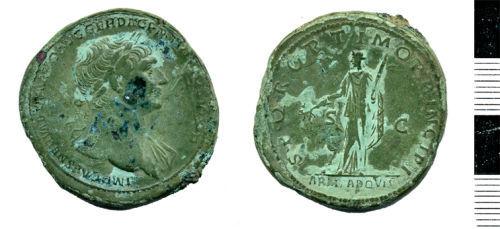 HESH-68FF91: Sestertius of Trajan