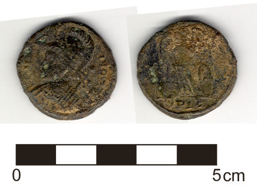 HESH-69D343: Coin: Nummus, House of Constantine (307-361),