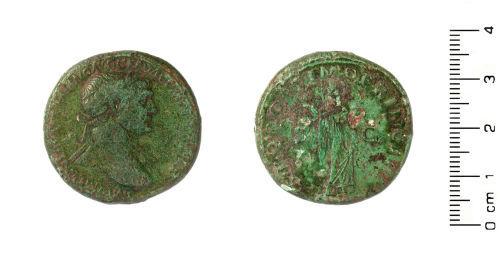 HESH-6B5DA3: Roman Coin:Sestertius of Emperor Trajan