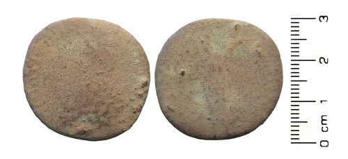 HESH-7141B5: Roman Coin: Sestertius of Hadrian (possibly)
