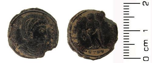 HESH-71F803: Roman coin: Nummus of Helena
