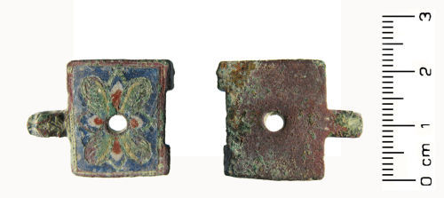 HESH-7ACEC5: Medieval: 'limoges style' book fitting or clasp