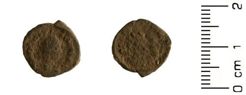HESH-7EB3E4: Roman Coin: Nummus of emperor Theodosius I (probably) 379-395AD,