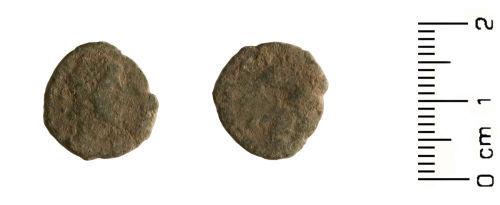 HESH-7F3AB7: Roman Coin: Nummus of Emperor Gratian post 378 AD
