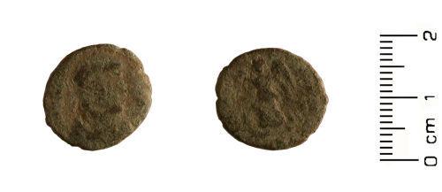 HESH-7FB771: Roman Coin: Nummus of House of Theodosius 388-402