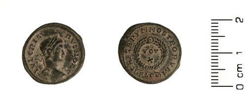 HESH-80F332: Roman:Nummus of Crispus