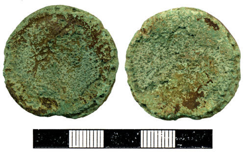 HESH-820BA4: Worn and corroded Sestertius of unidentified Emperor
