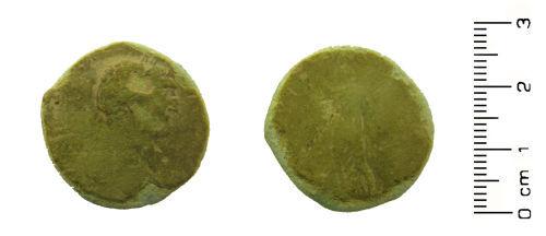 HESH-8CAB76: Roman coin: Sesterius of Trajan