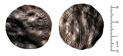 HESH-929622: Post Medieval Coin: Shilling of Elizabeth I