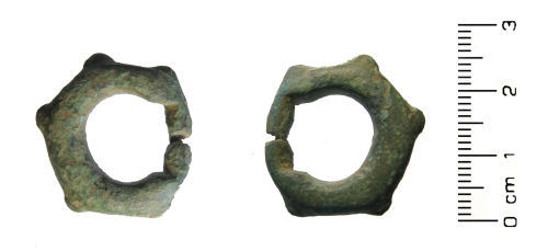HESH-9B8F37: Late Iron Age to Early Roman: 'miniature' Terret Harness Fitting