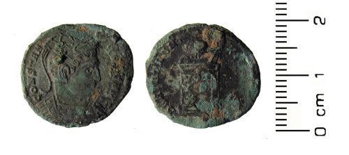 HESH-AD8DA5: Roman Coin: Nummus of Constantine I