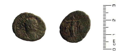 HESH-B26467: Roman Coin: Potential contemporary copy / barbarous radiate of Carausius 286-293 AD.