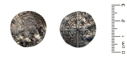 HESH-B471B6: Medieval Coin: Silver groat of Edward IV, initial mark: Lis (possibly). Mint: York.