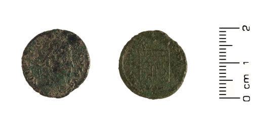HESH-BA43B1: Roman Coin: Bronze nummus of the Emperor Constantine Mint: London, Period I (324-326)