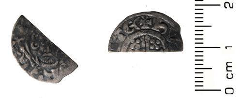 HESH-C17121: Medieval Coin: Cut Half Penny of John