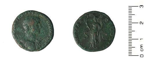 HESH-C35807: Roman coin: As of Hadrian