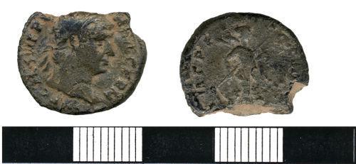 HESH-D15318: Silver Denarius of Trajan (98-117 AD), minted between 101 and 102 AD