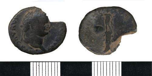 HESH-D23A30: Silver Denarius of Titus (79-81 AD), minted in 79 AD