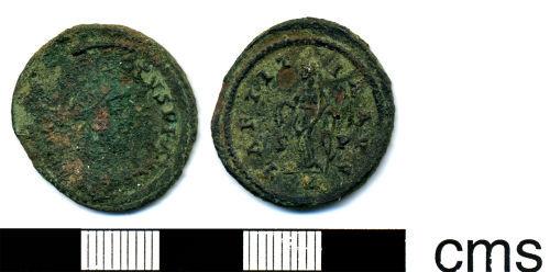 HESH-E5EAB8: Roman Coin: Radiate of Allectus