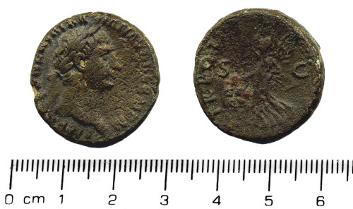 HESH-F54CD2: Bronze As of Trajan dating from 99 - 100 AD