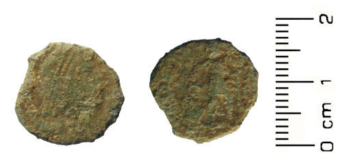 HESH-F68940: Roman coin: Nummus of the House of Valentinian