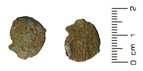 HESH-F6B968: Roman coin: Contemporary copy of a nummus of House of Constantine