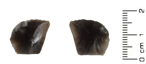 HESH-30F2F2: Neolithic: Thumbnail scraper