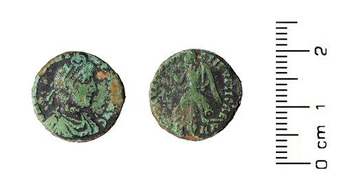 HESH-43BC8C: Roman Coin: Nummus of House of Valentinian
