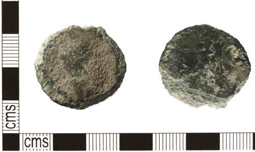 HESH-6C9828: Roman Coin: Uncertain As