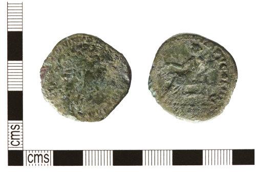 HESH-6CAE37: Roman Coin: Roman sestertius of Marcus Aurelius as Augustus