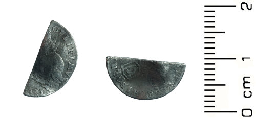 HESH-80C415: POst Medieval: Sixpence of William III - love token