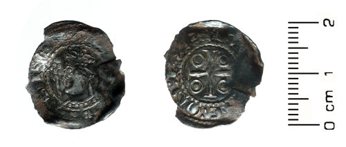 HESH-80F002: Medieval Coin: Henry I type 8 penny of the Exeter moneyer Dunninc