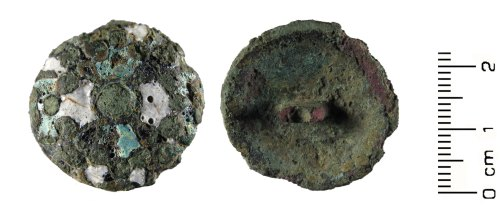 HESH-F9BBC9: Post Medieval: Enamelled Button