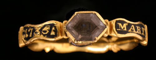 HESH-E35784: Post Medieval Mourning Ring