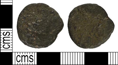BH-4E1556: Roman coin: radiate of Carausius