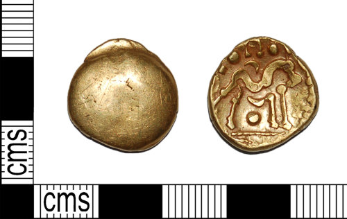 BH-5D9AF3: Iron Age Gold Gallo-Belgic Stater