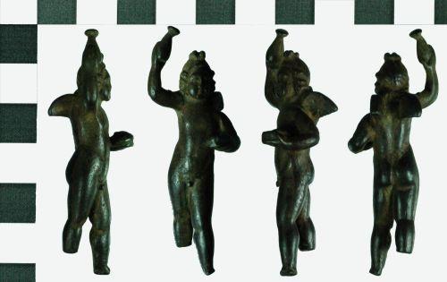 FAPJW-D8ABE4: Roman copper-alloy figurine of Cupid