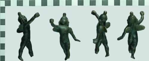 NCL-2C40A4: Roman copper alloy cupid figurine