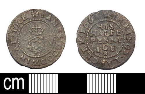 BH-1CA861: Post Medieval trade token